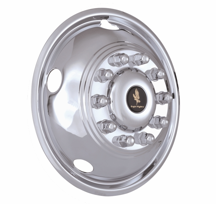 19.5_inch_10_Lug_(5_Front)_5_Hand_Hole_Polished_Stainless_Wheel_Simulators_Front_Set